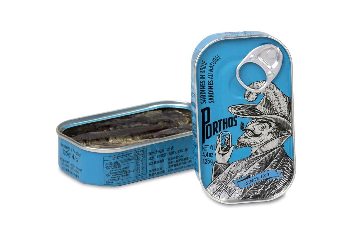 Sardines au naturel, Porthos (81 g)