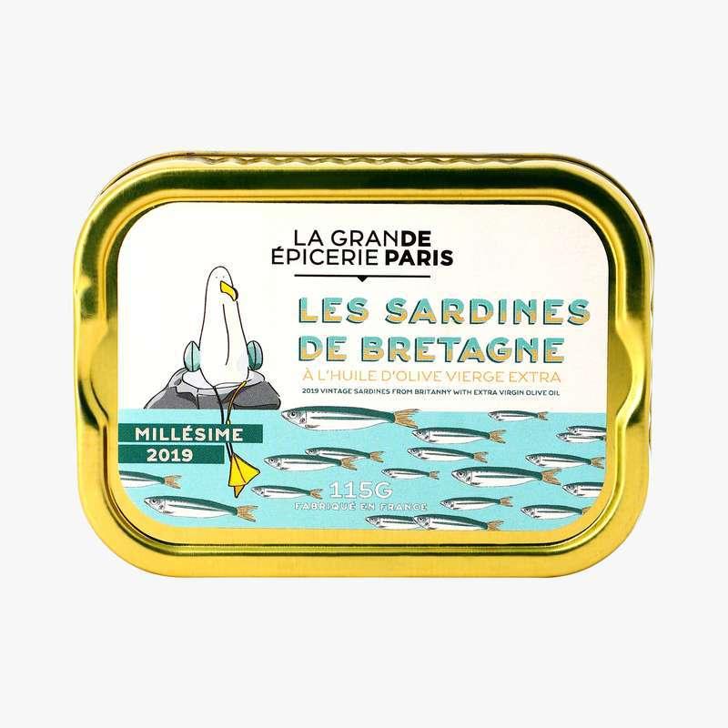 Sardines de Bretagne millésime 2019, La Grande Epicerie de Paris (115 g)