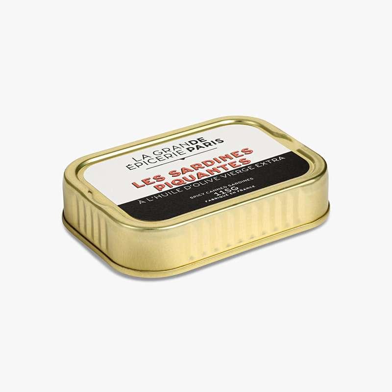Sardines piquantes à l'huile d'olive vierge extra, La Grande Epicerie de Paris (115 g)