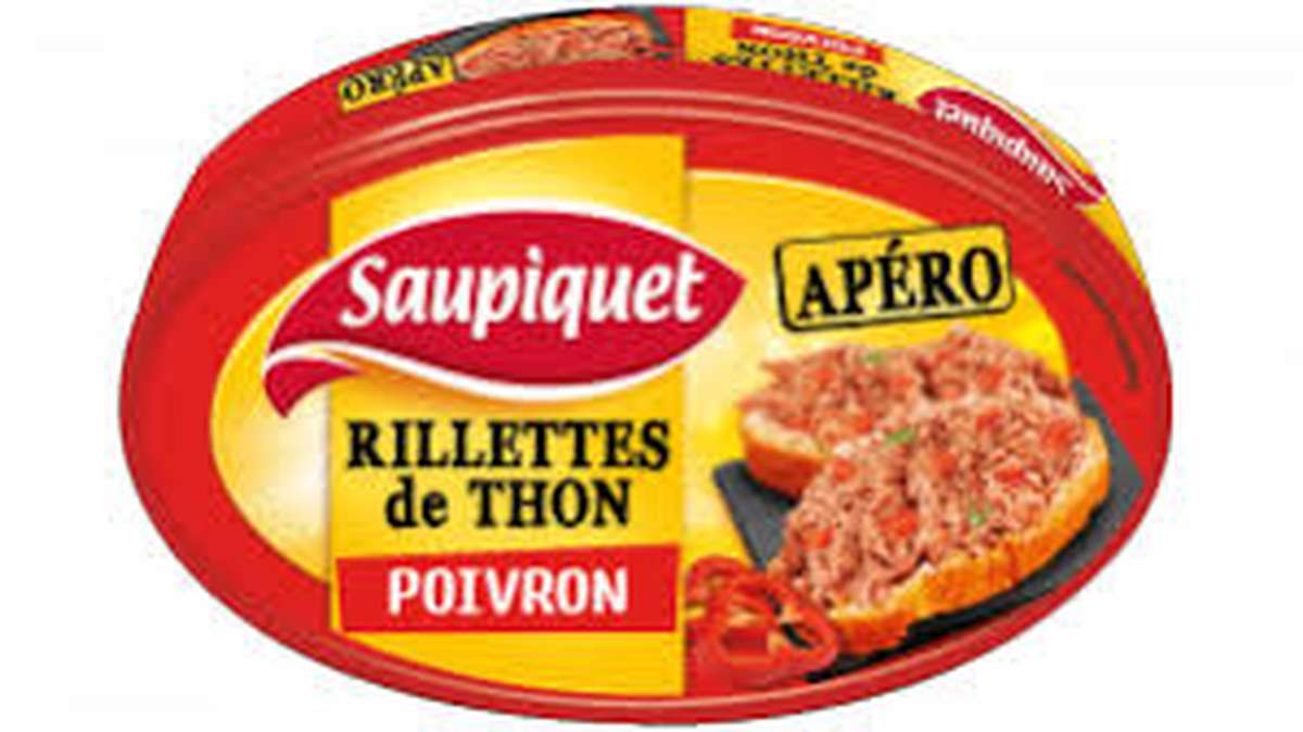 Rillettes de Thon Poivron, Saupiquet (115 g)