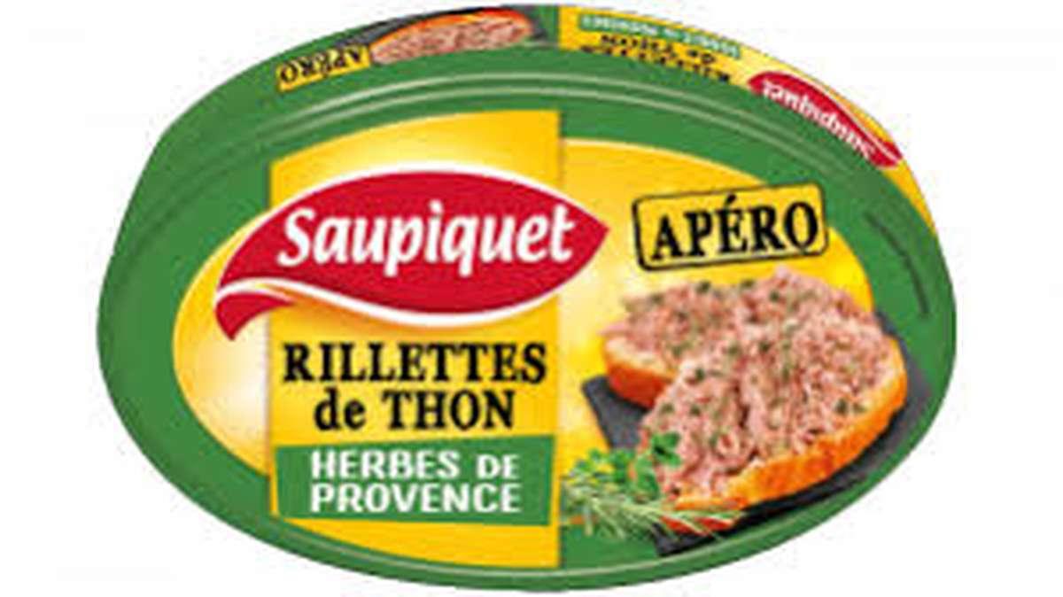 Rilettes apéro de Thon aux herbes de Provence, Saupiquet (115 g)