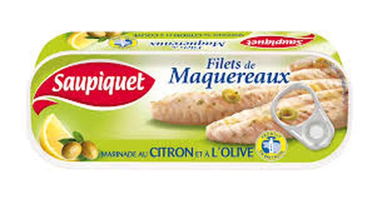 Filets de maquereaux au citron et à l'olive, Saupiquet (176 g)