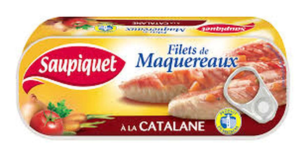 Filets de maquereau à la Catalane Saupiquet (169 g)