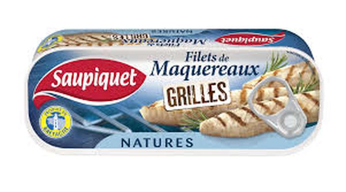 Filets de maquereaux grillés nature, Saupiquet (120 g)