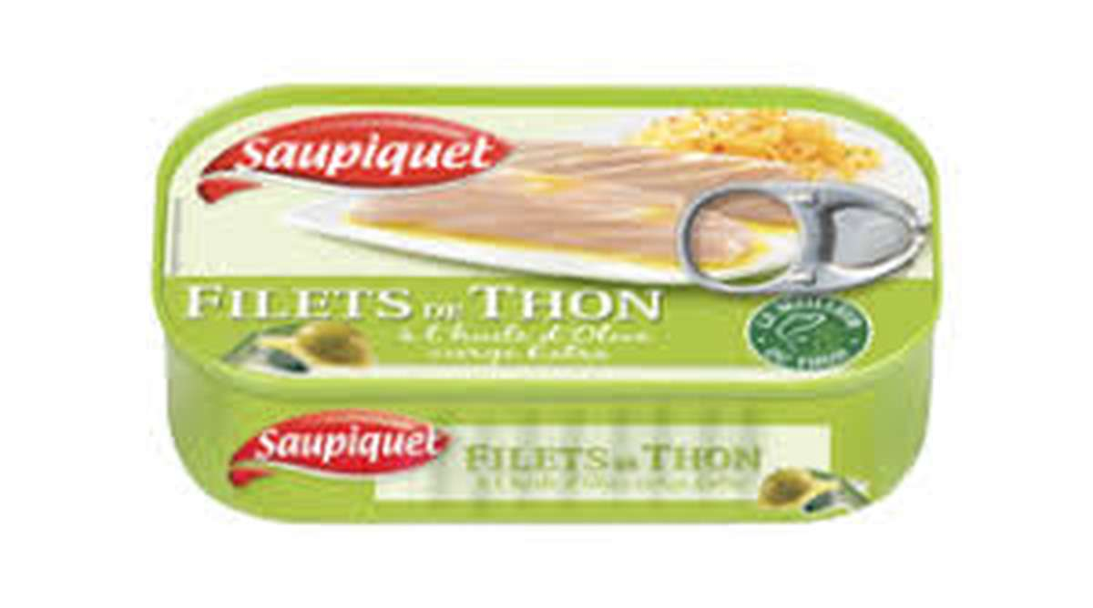 Filets de Thon à l'huile d'olive, Saupiquet (115 g)