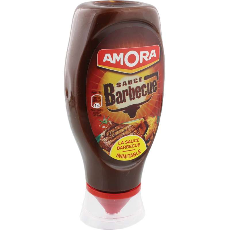 Sauce barbecue flacon souple, Amora (490 g)