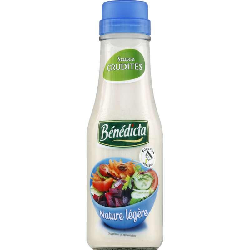 Sauce crudités nature extra légère, Bénédicta (295 g)