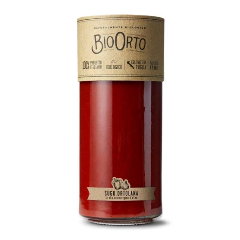 Sauce ortolana - aubergine, courgette, poivron BIO, Bio Orto (185 g)