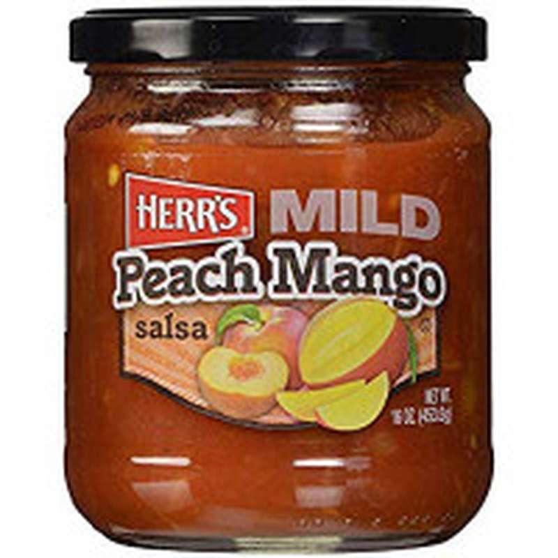 Sauce pêche et mangue, Herr's (453 g)