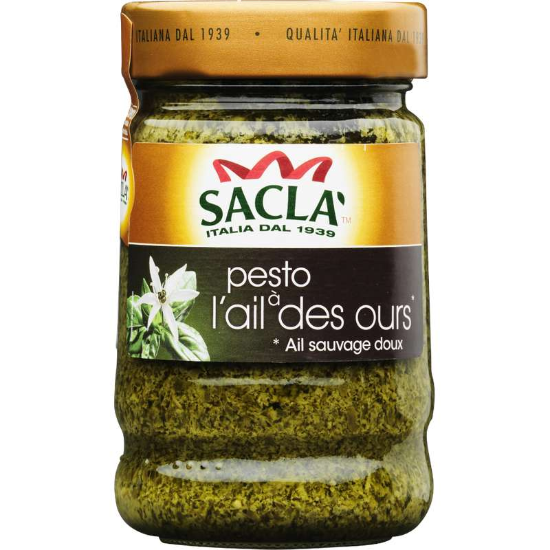 Pesto à l'ail des ours, Sacla (190 g)