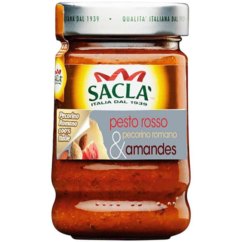 Pesto rosso pecorino romano et amandes, Sacla (190 g)