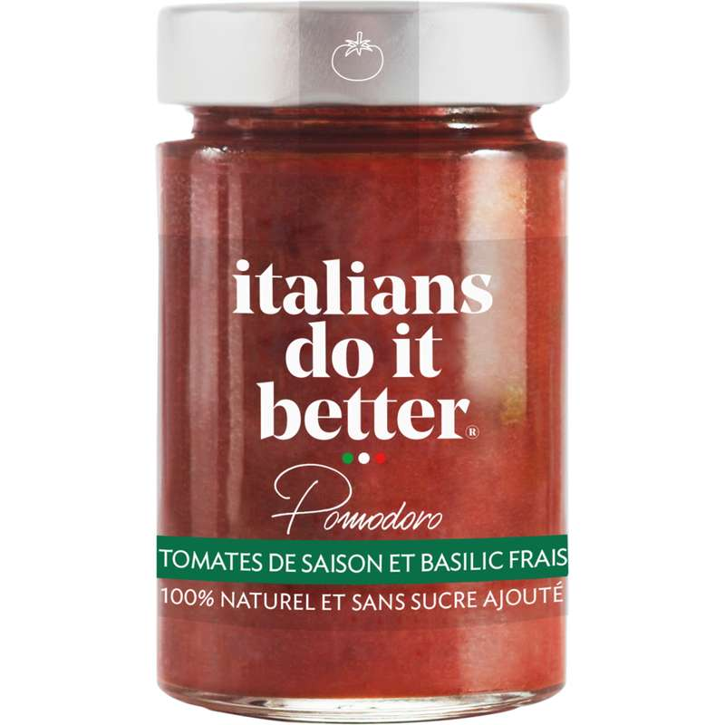 Sauce pomodoro tomates de saison et basilic frais,  Italians do it better (190 g), 190g
