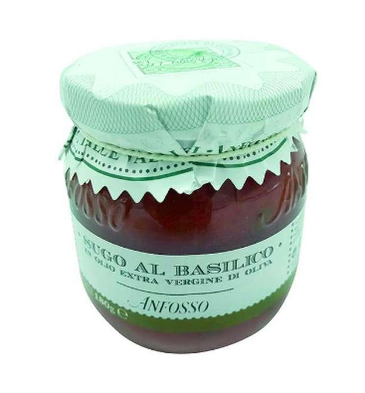 Sauce tomate au basilic, Anfosso (180 g)