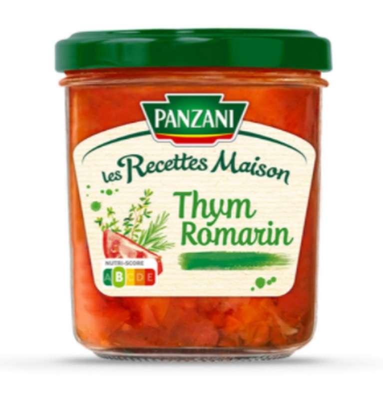 Sauce tomate Les Recettes Maison thym romarin, Panzani (320 g)