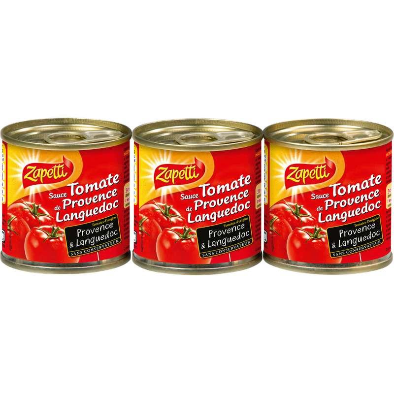 Sauce tomate, Zapetti (3 x 95 g)