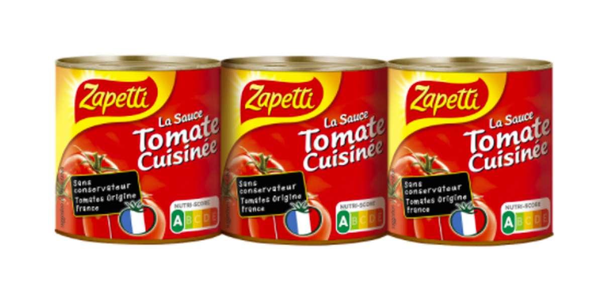 Sauce tomate cuisinée, Zapetti (3 x 95 g)