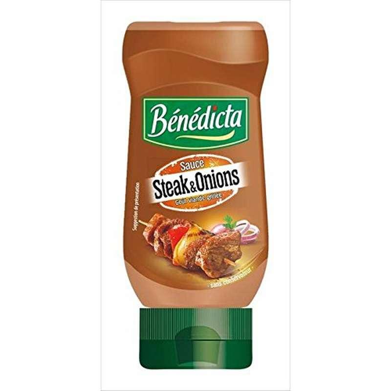 Sauce Steak & Oignon flacon souple, Bénédicta (245 g)