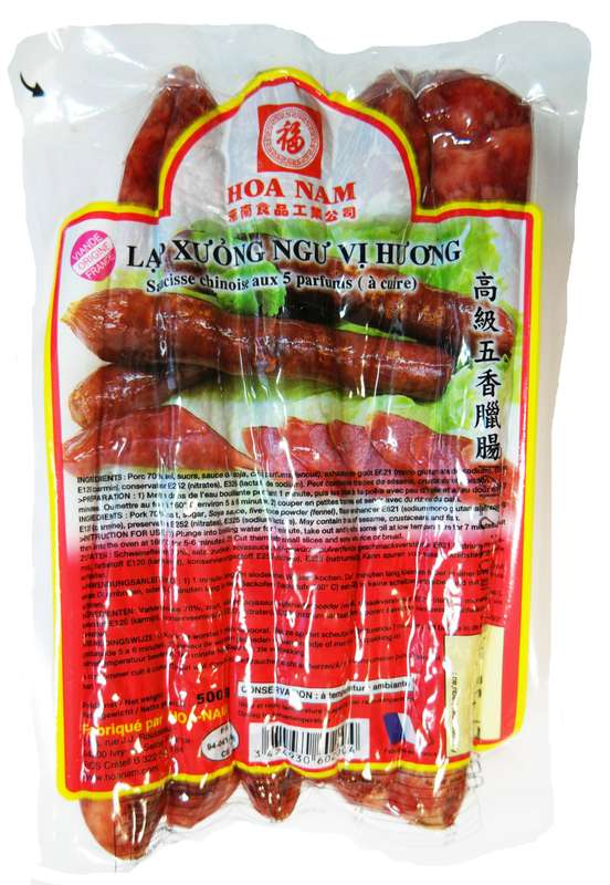 Saucisse chinoise Lap Xuong Ngu Vi Huong, Hoanam (500 g)
