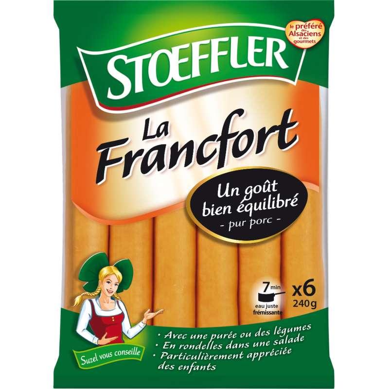 Saucisse de Francfort, Stoeffler (x 6, 240 g)