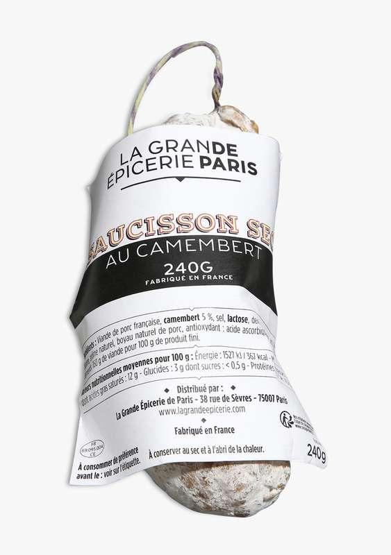 Saucisson sec au camembert, La Grande Epicerie de Paris (240 g)