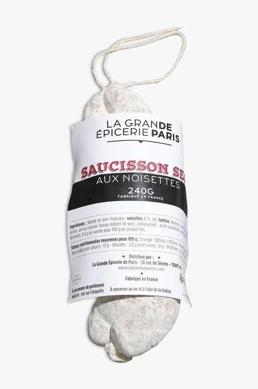 Saucisson sec aux noisettes, La Grande Epicerie de Paris (240 g)
