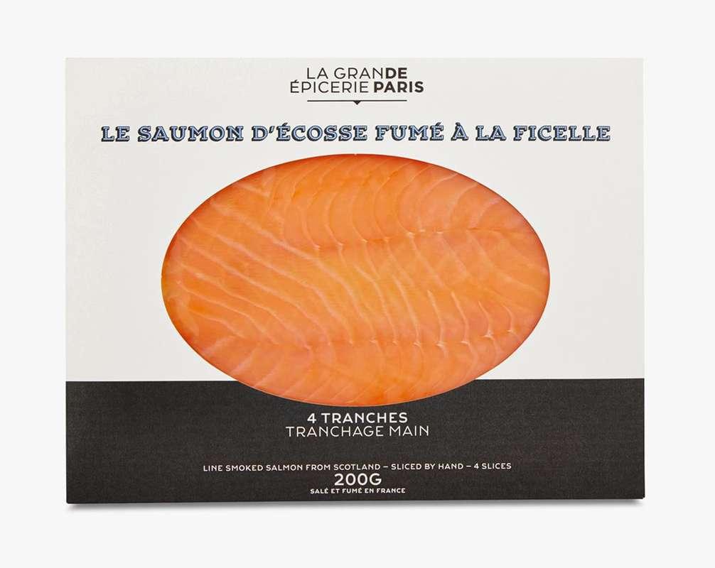 Saumon d'Écosse fumé à la ficelle, La Grande Epicerie de Paris (x 4 tranches, 200 g)