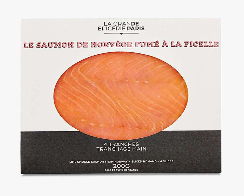 Saumon de Norvège fumé à la ficelle, La Grande Epicerie de Paris (x 4 tranches, 200 g)