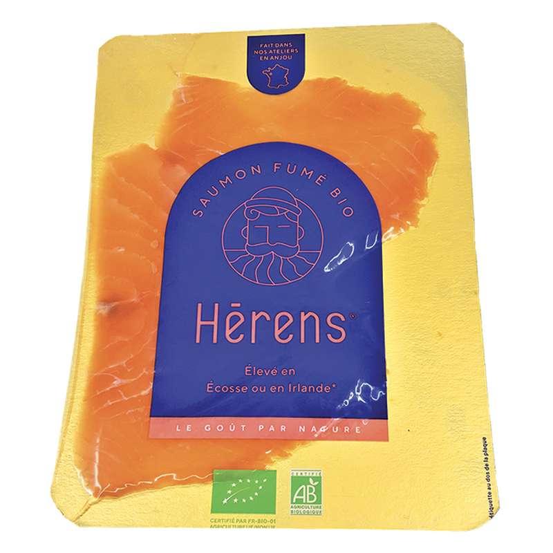 Saumon fumé BIO d'Irlande ou d'Ecosse selon arrivage, Herens (2 tranches, 80 g)