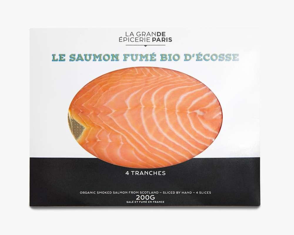 Saumon fumé d'Écosse BIO, La Grande Epicerie de Paris (x 4 tranches, 200 g)