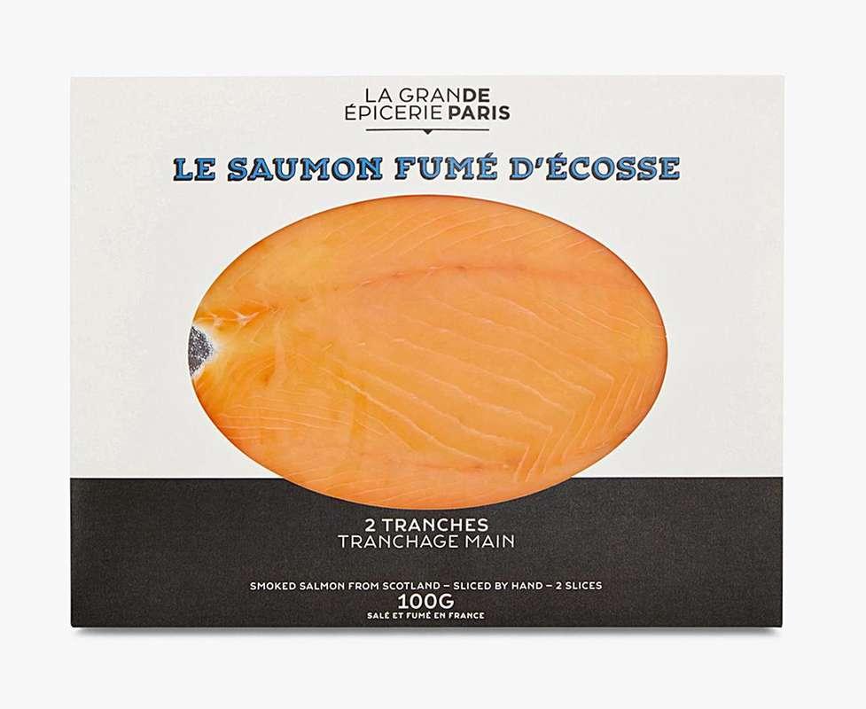 Saumon fumé d'Écosse, La Grande Epicerie de Paris (x 2 tranches, 100 g)