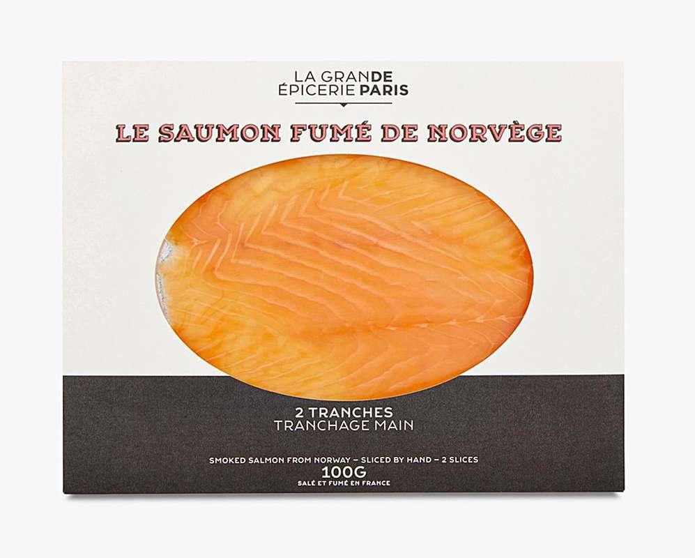 Saumon fumé de Norvège, La Grande Epicerie de Paris (x 2 tranches, 100 g)