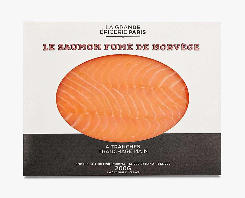 Saumon fumé de Norvège, La Grande Epicerie de Paris (x 4 tranches, 200 g)