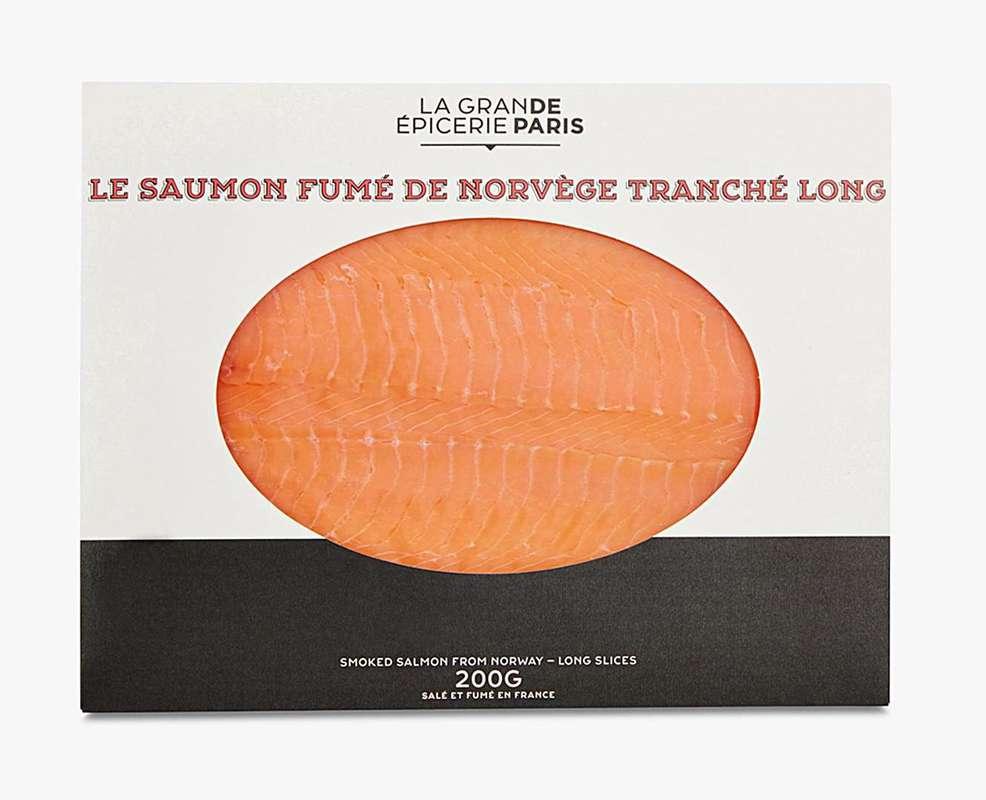 Saumon fumé de Norvège tranché long, La Grande Epicerie de Paris (x 4 tranches, 200 g)
