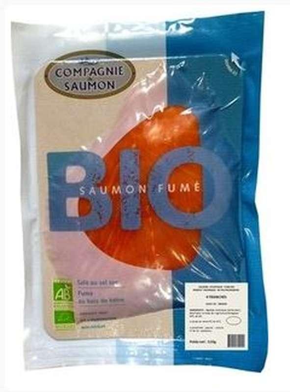 Saumon fumé Ecosse/Irlande BIO, Compagnie du Saumon (x 4 tranches, 120 g)