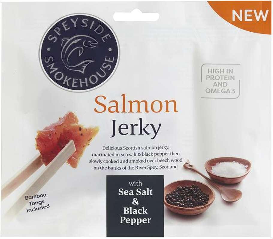 Saumon séché au sel de mer et poivre noir, Speyside Smokehouse (30 g)