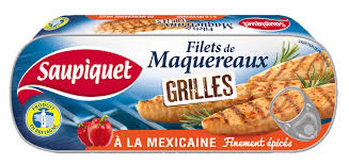 Filets de maquereaux Grillés à la Mexicaine, Saupiquet (120 g)