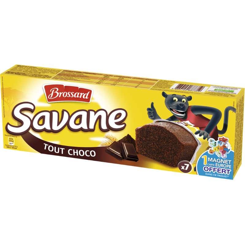 Mini Savane tout chocolat pocket, Brossard (7 x 27 g)