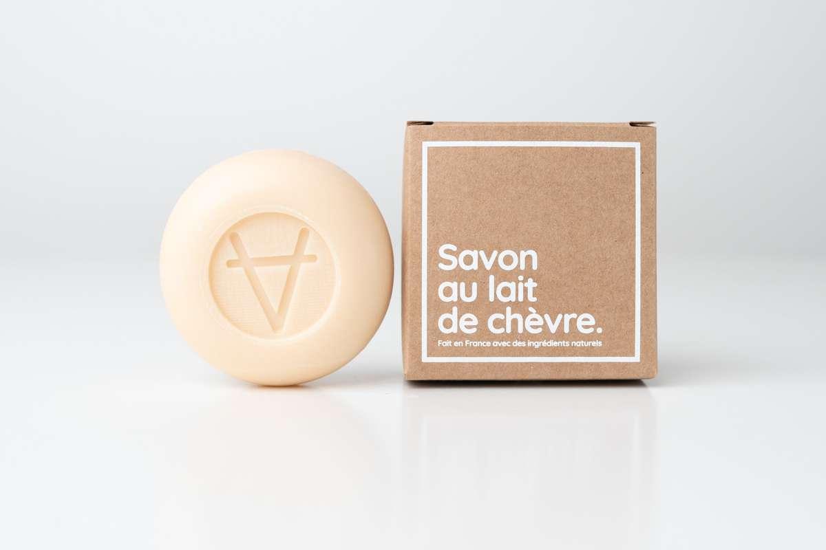 Savon au Lait de Chèvre parfum Amande, Soin Amalthée (100 g)