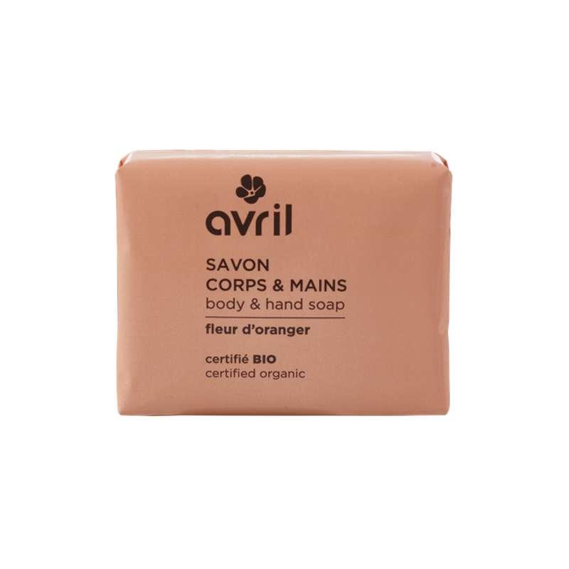 Savon corps & mains fleur d'oranger certifié BIO, Avril (100 g)