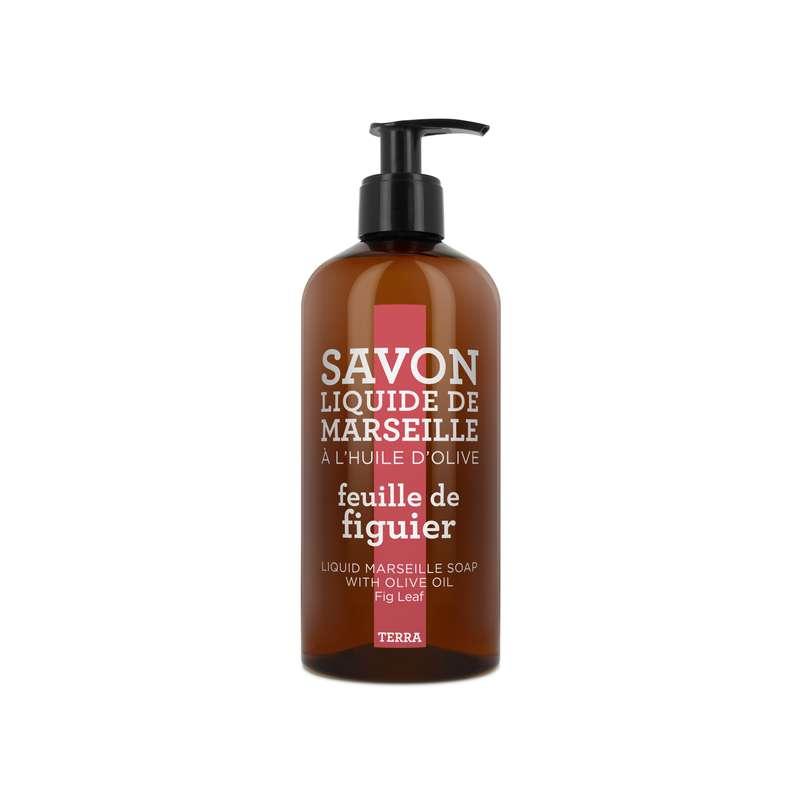 Savon liquide de Marseille à l'huile d'olive - Feuille de Figuier, Terra (500 ml)