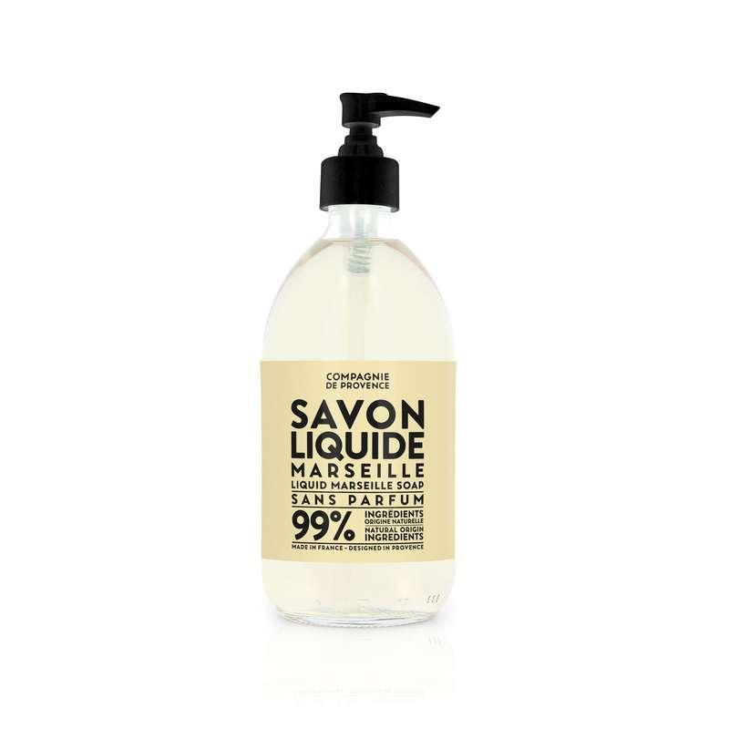 Savon liquide de Marseille sans parfum, Compagnie de Provence (495 ml)