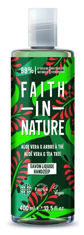 Savon liquide mains Aloe Vera, Faith In Nature (400 ml)