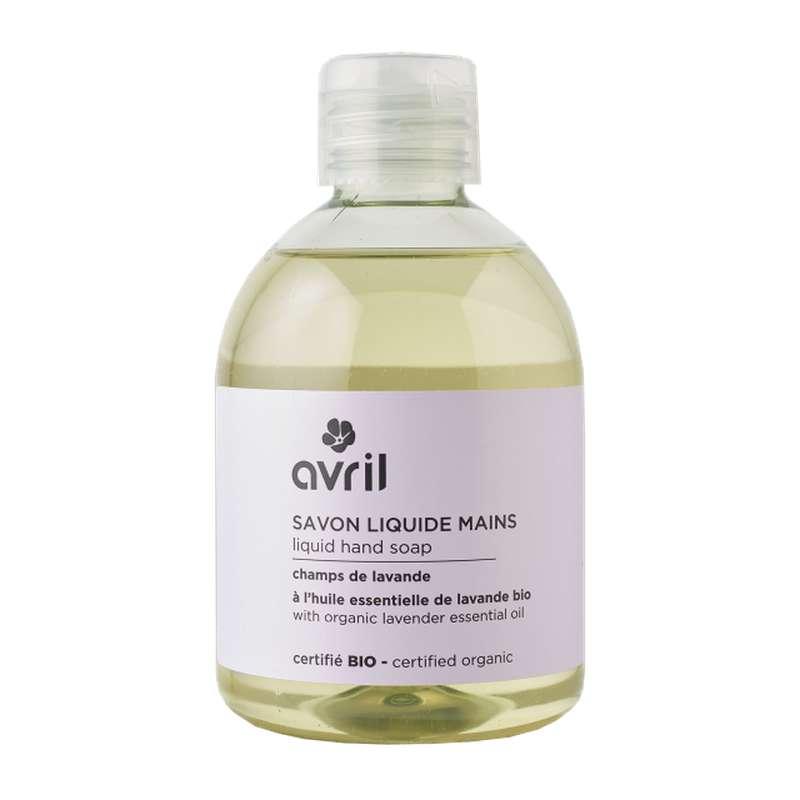 Savon liquide mains champs de lavande certifié BIO, Avril (300 ml)