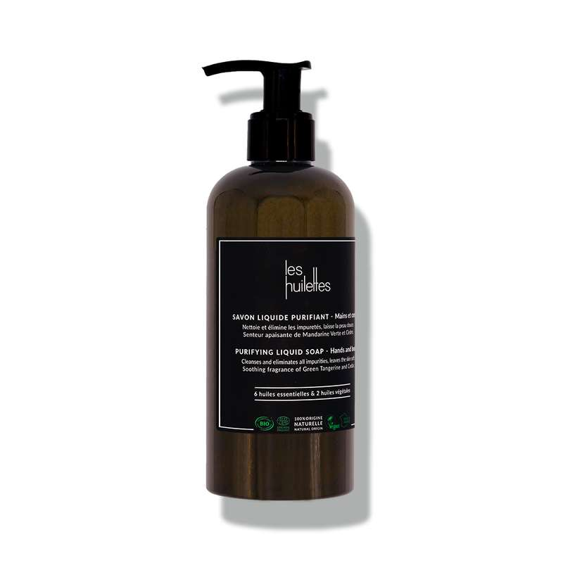 Savon liquide purifiant BIO, Les Huilettes (295 ml)