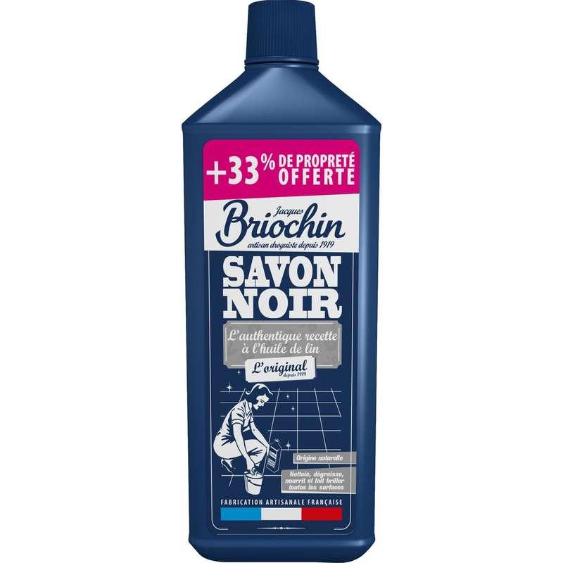 Savon noir liquide à l'huile de lin, Briochin OFFRE SPECIALE (1 L + 33% OFFERT)