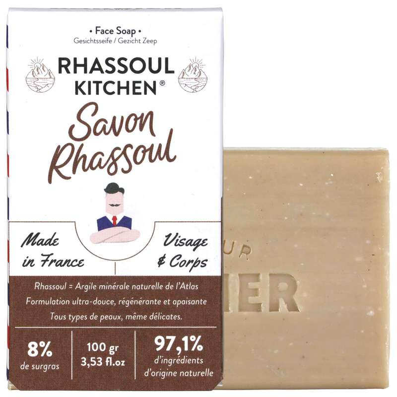 Savon solide Visage & Corps Rhassoul, Monsieur Barbier (100 g)