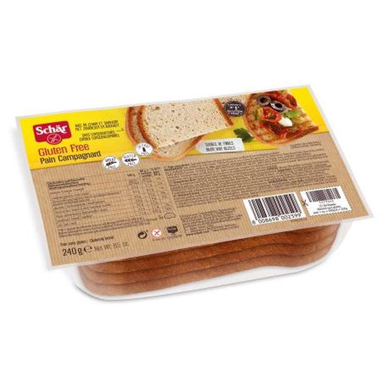 Pain Campagnard Sans Gluten, Schar (240 g)