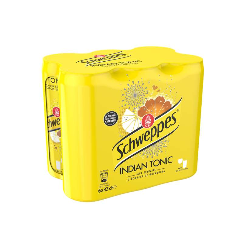 Pack de Schweppes Indian Tonic (6 x 33 cl)