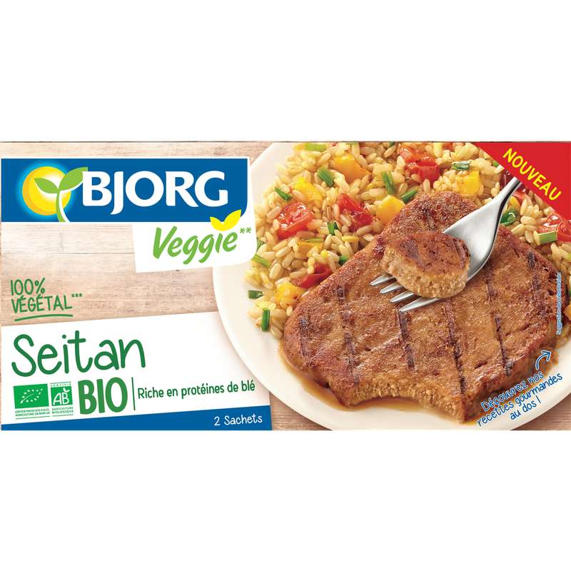 Seitan veggie BIO, Bjorg (2 x 85 g)