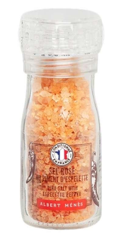 Sel rose au Piment d'Espelette - moulin, Albert Ménès (90 g)
